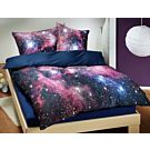 Galaxy Bettwäsche in Blau – Kissenbezug – 65x100 cm
