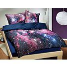 Galaxy Bettwäsche in Blau – Duvetbezug – 240x240 cm