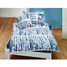 Linge de lit avec traits d'encre sur fond blanc – Fourre de duvet – 160x210 cm