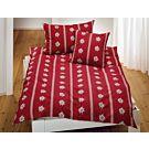 Linge de lit avec edelweiss – Fourre de duvet – 160x210 cm