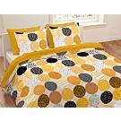 Linge de lit à pois couleur curry dernier cri – Taie d'oreiller – 65x100 cm