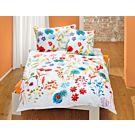 Linge de lit au motif floral joliment coloré – Fourre de duvet – 160x210 cm