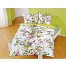 Linge de lit au motif fleuri multicolore – Fourre de duvet – 160x210 cm
