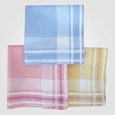 Mouchoirs aux couleurs pastels