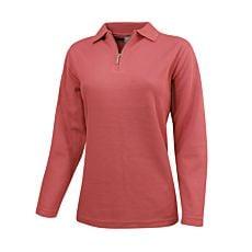 Sweat-shirt à fines côtes