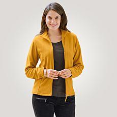 Veste fleece dames avec col droit
