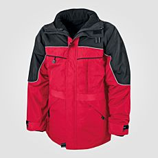 Veste outdoor 3 en 1 rouge