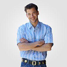 Edelweiss-Hemd kurzarm für Herren