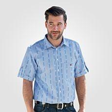 Hemd mit Edelweiss-Muster kurzarm