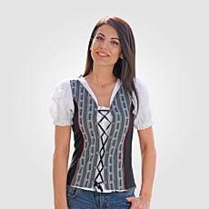 Shirt corsage edelweiss avec laçage
