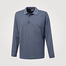 Ragman Herren-Poloshirt langarm