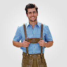 Chemise bavaroise à manches courtes, coton