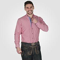 Chemise traditionnelle à manches longues pour hommes, rouge