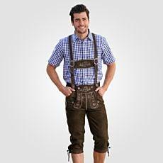 Pantalon bavarois 3/4 hommes en cuir