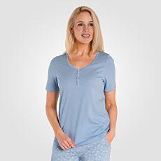 Loungewear Damen Shirt hellblau