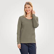 Shirt basique à manches longues uni