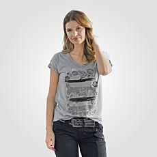 T-shirt avec motif imprimé devant