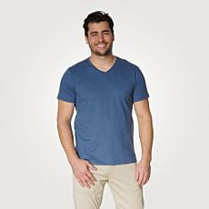 T-shirt Basic hommes à encolure en V