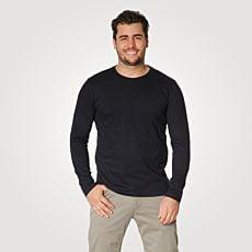 Langarm Basic Shirt Herren