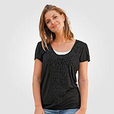 Shirt Replace avec empiècement au crochet