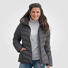 Stepp-Jacke Damen mit Stehkragen dunkelbraun