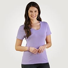 Schlichtes V-Neck Damen T-Shirt
