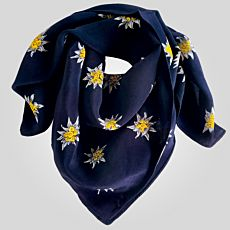 Foulard carré edelweiss
