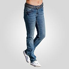 Damen 5-Pocket-Jeans in leichter used-Optik