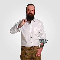 Chemise à manches longues blanc hommes
