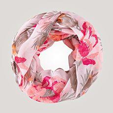 Echarpe tube à motif fleuri