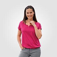 T-Shirt mit Elastbund