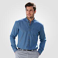 Chemise jean à manches longues