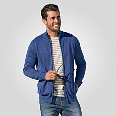 Veste en tricot à col droit