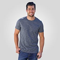 Herren T-Shirt mit Brusttasche in Melange-Optik