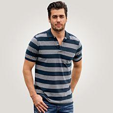 Polo-Shirt mit Blockstreifen