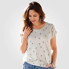 Damen T-Shirt mit Flamingo-Print