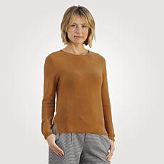 Pull-over en tricot côtelé pour dames