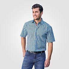 Chemise à manches courtes, turquoise-bleu