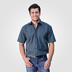 Chemise à manches courtes et micro-imprimé