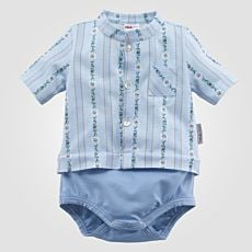 Body bébés ISA edelweiss à poche de poitrine