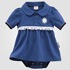 ISA Baby Body mit Edelweiss-Applikation
