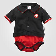 ISA Baby Body mit Schweizerkreuz-Applikation
