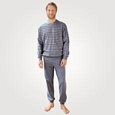 Pyjama hommes à manches longues et col en V