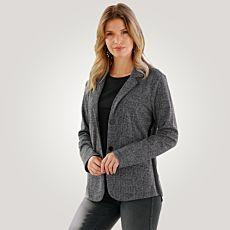 Jersey-Blazer Damen mit seitlichem Streifen