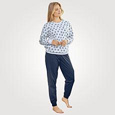 Artime Damen Pyjama mit Print