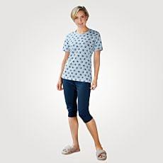Pyjama dames à manches courtes
