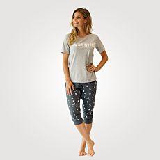 Artime Pyjama Damen mit Frontprint