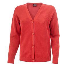 Jaquette boutonnée en tricot, de coupe droite
