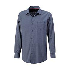 Bügelfreies Langarmhemd mit Muster