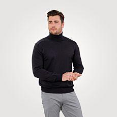 Pull-over à col roulé en tricot fin avec laine mérinos, de forme durable